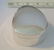 Sterling Silver 26g Teardrop Heavy Tooth Trinket Pill Box