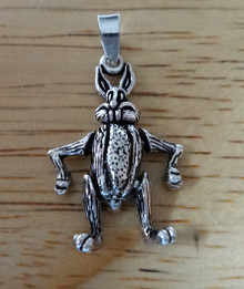 17x26mm Movable Easter Rabbit Bunny Sterling Silver Charm!