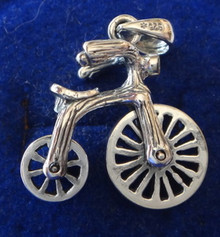 Lg Movable Velosipede Bicycle Bike Sterling Silver Charm