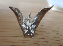3D 20x15mm Pterodactyl Dinosaur Sterling Silver Charm