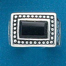 size 6 7 8 or 9 Lg 12g Rectangular Black Onyx Sterling Silver Ring