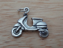 3D 19x17mm Motorized Scooter Sterling Silver Charm