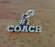 18x11mm says #1 Coach Sterling Silver Charm
