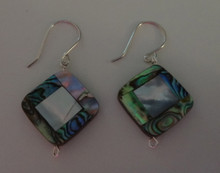 Square Abalone & White Mother of Pearl Sterling Silver Earrings