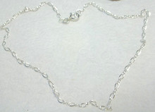 "10"" Sterling Silver 2.5 mm Figure 8 Ankle Bracelet"