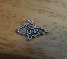 16x9mm Upper Penninsula Michigan says UP Sterling Silver Charm
