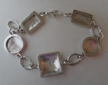 """8"""" Sterling Silver 15g Engraveable Picture Frame Bracelet"""