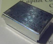 "10 - 1.25x2"" Sm Silver Jewelry Gift Box w/ cotton inside"
