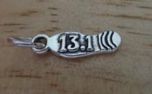 says 13.1 Shoe Sole Half Marathon Sterling Silver Charm