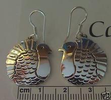 Beautiful 9 gram Thanksgiving Turkey Sterling Silver Earrings