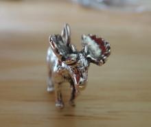 3D 17x20mm Deer Realistic Moose 5g Sterling Silver Charm