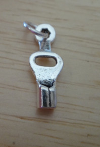 3D 7x23mm  Realistic Skate Key Sterling Silver Charm