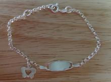 "Adjustable 6.25-7"" Sterling Silver Engraveable Butterfly Bracelet"