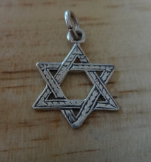 20x15mm textured Star of David Sterling Silver Charm