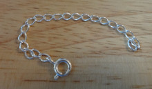 """7.5 cm or 3"""" Sterling Silver Extension Chain with clasp"""