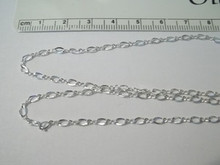 """18"""" Tiny Link 2.5 mm Figure 8 Fancy Sterling Silver Chain"""