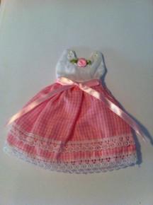 "Pink Baby Girl Dress Shower Drawstring 5""x5.5"" Gift Bag"