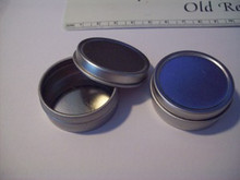 """1 Silver Gift Tin Box holds 1 ounce & is 2"""" Diameter"""