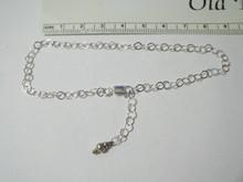 "9.5"" Adjustable Sterling Silver 4 mm Rolo Chain Ankle Bracelet"