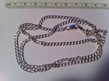"""22"""" Sterling Silver 3.5 mm 12g Curb Men's Chain"""