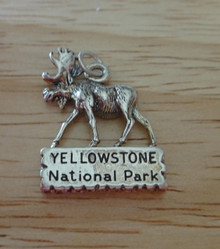 Moose Yellowstone National Park Sterling Silver Charm