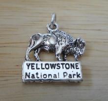3.5g Buffalo Yellowstone National Park Sterling Silver Charm