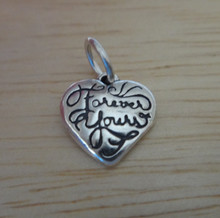 11x10mm Tiny Heart says Forever Yours Sterling Silver Charm!