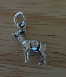3D 15x15mm Capricorn Billy Goat Sterling Silver Charm