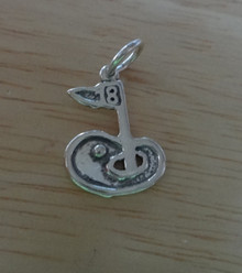 13x19mm 18th Hole Golf Sterling Silver Charm