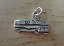 Flat Camping Travel Motorhome RV Sterling Silver Charm