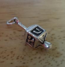 7x22mm Holiday Dreidel Sterling Silver Charm