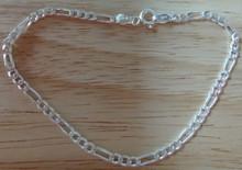 "8"" Sm 3 mm Figaro Chain Sterling Silver Bracelet"