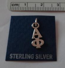 Greek Sorority Alpha Phi Lavalier Sterling Silver Charm