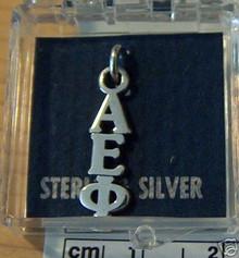 Greek Sorority Alpha Epsilon Phi Sterling Silver Charm