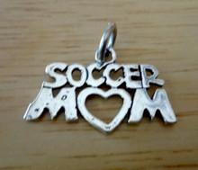 22x15mm Soccer Mom Sterling Silver Charm