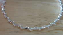 """16"""" Snake Chain Wrapped with Bead 9g Sterling Silver Chain"""