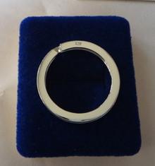 Sterling Silver 3 cm diameter 5 gram Split Ring Keyring