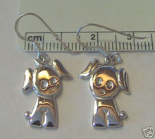 Cute Dog Earrings on French Wires