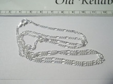 """16"""", 24"""", or 30"""" 2 mm Figaro Sterling Silver Chain Necklace"""