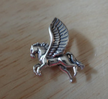 18x16mm 3D Winged Horse Pegasus Sterling Silver Charm