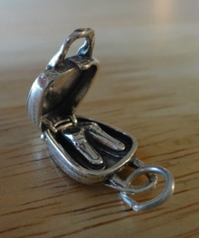 Movable 4-5 gram Bowling Bag & Shoes Sterling Silver Charm