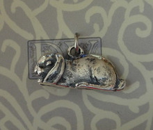Large Flop Holland Lop Rabbit Bunny Sterling Silver Charm