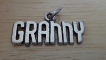25x12mm says Granny Grandmother Sterling Silver Charm