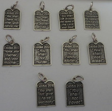 Religious 10 Commandment Sterling Silver Charms