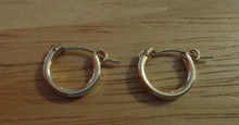 14K Gold Filled 15 mm Diameter 2 mm thick Hoop Earrings