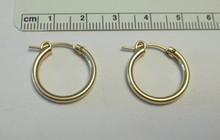 14K Gold Filled 18 mm Diameter 2 mm thick Hoop Earrings
