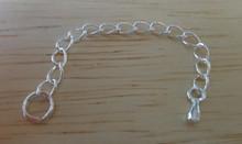 5.6 cm long teardrop Extension Sterling Silver Bracelet Chain