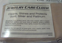 """10x14"""" when open Silver, Gold, & Platinum Jewelry Polishing Cloth"""