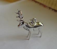 Realistic Elk Deer Sterling Silver Charm