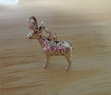 3D 15x17mm Standing Antelope Sterling Silver Charm